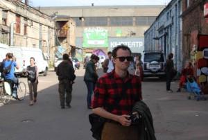 Garrett at Gogolfest, Kyiv, Ukraine